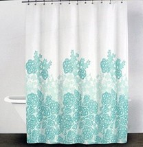 DKNY Fabric Shower Curtain Graphic Lace -- Glacier -- Donna Karen of New... - $27.61