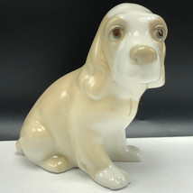 VINTAGE DOG FIGURINE collectible sculpture statue porcelain Valencia spa... - $49.45