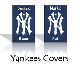 PERSONALIZED New York Yankees Light Switch Covers MLB Baseball Home Decor - $7.91+