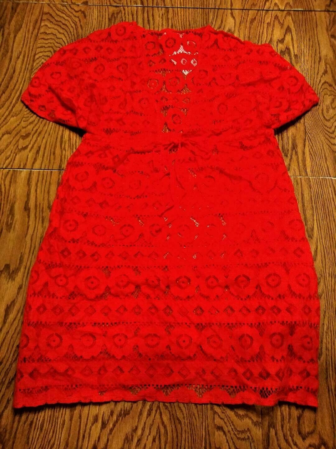 Jessica Simpson Red Beach Cover Up Size Small