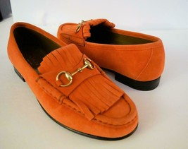 Gucci Women Suede Horsebit Loafer Scamosciato Made in Italy 37 1/2 Size ... - $688.05