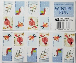 Winter Fun 1st Class (USPS) 2014  FOREVER Stamps 20 - $15.95