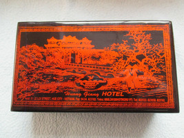 Vintage Chinese Lacquer  Box Featuring The Huong Giang Hotel Vietnam - $20.69