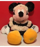 Mickey Mouse Christmas Plush Authentic Original Disney Store Exclusive - $15.51