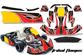 Go Kart Graphics Kit Decal Sticker Wrap For CRG New Age NA2 TRIBAL RED BLACK - $197.95
