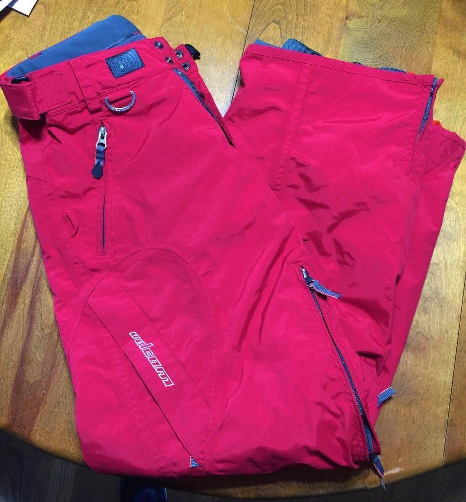 Volcom Nimbus Red Snowboarding Pants Adult Small