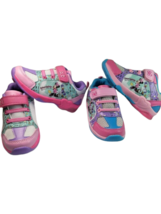 Disney Toddler Girls Minnie Mouse Light Up Shoes Two Pairs SZ EU 25 us ... - $29.70