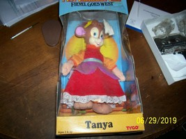 "1991 Tyco An American Tail Fievel Goes West 13"" Stuffed Tanya Doll MIB - $25.00"