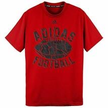 adidas Boy's Climalite Short Sleeve Football T-Shirt Tee Shirt Authentic NEW