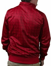 Bench UK Cornish J Zip Up Red Plaid Warm Up Track Jacket BMEA1393J NWT image 2
