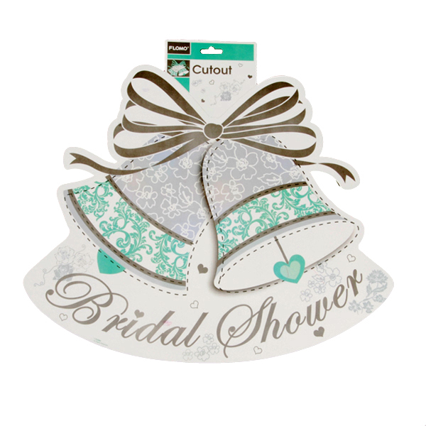 15.75 X 18.5 Bridal Shower 2 Sided Printed Cutout/Case of 36