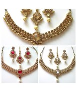 Indian Traditional Ethnic  Bollywood Gold Plated Bridal Wedding Jewelry ... - $19.80