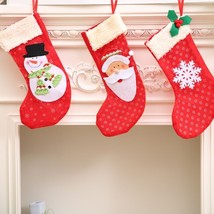 Santa Claus Stockings Christmas Gauze Gift Bags Accessories Decorations ... - $4.99