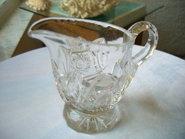 Hand Cut Clear Crystal  c1950's Table Creamer - $9.90