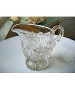 Hand Cut Clear Crystal  c1950's Table Creamer - $9.90
