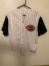 Cincinnati Reds Majestic MLB Baseball Jersey XL Team Sewn Rare White & B... - $32.67