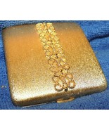 """Vintage Avon Powder Compact 3"""" brushed gold scrolled filigree mirror Imperial - $29.24"""