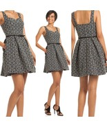 Trina Turk Kristen Short Tt Tile Jacquard Waist Belt Pockets Dress SZ 6 ... - $200.58