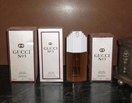 Choose Size Gucci No. 3 Edt 60 - 120 Ml 2.0 - 4.0 Oz Women New Discontinued Rare - $193.05+