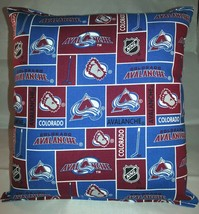Avalanche Pillow Colorado Avalanche Pillow NHL Handmade in USA - $9.97