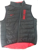 NIKE OHIO STATE BUCKEYES SPORTS JACKET VEST WOMENS MEDIUM BLACK - $99.00