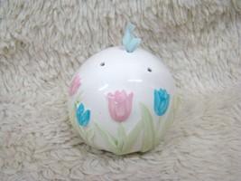 Ceramic Round Pomander w/ Tulip Design Takakashi, Made in Japan Decorati... - $10.95