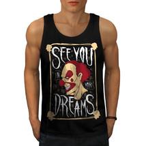 Clown Dream Scary Horror Tee  Men Tank Top - $12.99