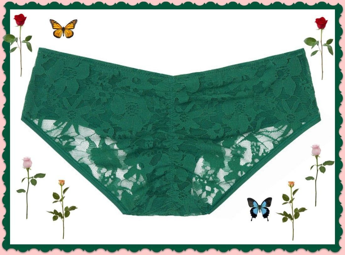 Low-Rise Hiphugger L Solid Green Lace Top Victoria/'s Secret Gray