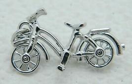 VTG Silver Tone Bicycle Bike Articulating Wheel Pendant - $19.80