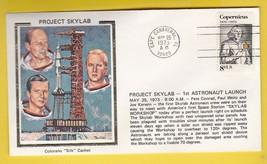 PROJECT SKYLAB 1st ASTRONAUT LAUNCH CAPE CANAVERAL 5/25/1973 COLORANO SILK - $1.78
