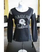 NFL Football Team Apparel Oakland Raiders Women Juniors French Terry Shi... - $33.66