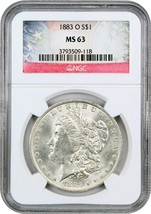 1883-O $1 NGC MS63 - Morgan Silver Dollar - $72.75