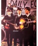 Vintage Beatles Pinup Poster John Lennon Paul McCartney George Harrison ... - $11.64