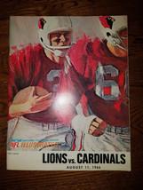 August 11, 1966 Detroit Lions vs St. Louis Cardinals NFL Football Program - $19.99