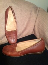 Women's Easy Spirit Adrienne 6M Brown Leather Casual Comfort Shoes Mrsp $59 - $24.74