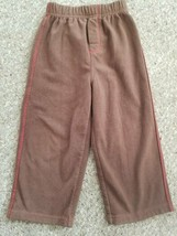CARTER'S Brown Fleece Athletic Style Pants Boys Size 4T - $2.88