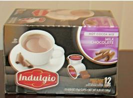 Indulgio Milk Chocolate Hot Cocoa Mix 12 Count Pods, Keurig Pods AAL1 - $12.59