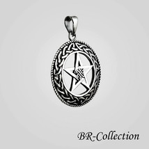 925 Sterling Silver Celtic Knot Star Pentagram Pentacle Pendant Irish Jewelry - $25.69