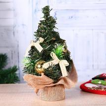 (yellow)Mini Christmas Tree Ornaments Bonsai Landscape Decor Xmas Home O... - $16.00