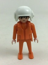 Playmobil 3789 Rescue White Helicopter Replacement Pilot Figure Pieces Parts RH3 - $10.84