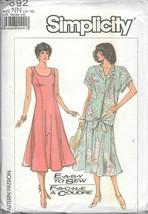 Vintage Simplicity #7892 Misses Tie-Front Shirt Jacket & Slim Fitting Dress - $9.90