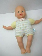 Fisher-Price Little Mommy baby so new doll yellow outfit butterflies green eyes - $19.79