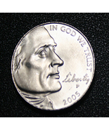 2005 Jefferson Nickel with Bison on the Back.  Beautiful coin, Mint BDU,... - $8.99