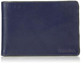 Calvin Klein CK Men's Genuine Leather Slimfold Embossed Logo Wallet 79814 image 6