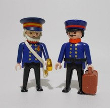 Playmobil Victorian Police General With Aide Figures 5405 Aid Guards 1990 - $27.71