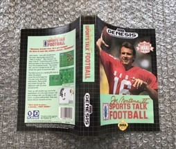 Joe Montana II: Sports Talk Football **ORIGINAL CASE/BOX ART ONLY** Sega... - $4.27