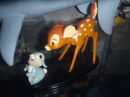 Extremely Rare! Walt Disney Bambi Playing with Thumper Figurine Statue - $127.49