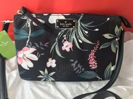 KATE SPADE Madelyne Wilson Road Botanical Black Crossbody Bag Purse NWT ... - $100.93 CAD