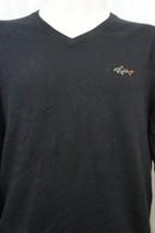 Greg Norman For Tasso Elba Mens Sweater Sz S Black V Neck Pullover Basic... - ₨3,152.27 INR