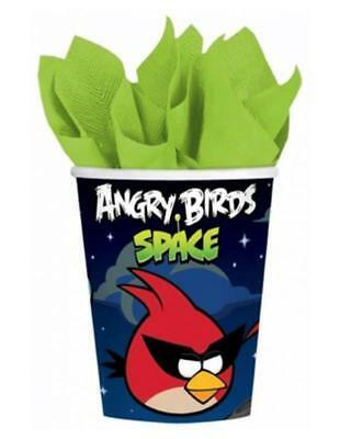 Angry Birds Space Cups 8 Per Package 9 oz Paper Birthday Party Supplies NEW